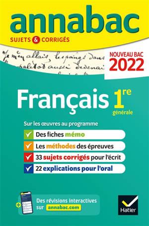Français 1re générale : bac 2022