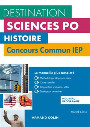 Histoire : concours commun IEP : nouveau programme