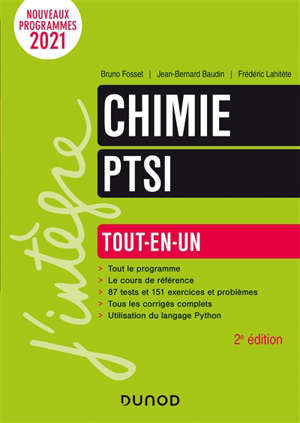 Chimie PTSI : tout-en-un