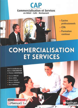 Commercialisation et services, CAP commercialisation et services en hôtel, café, restaurant