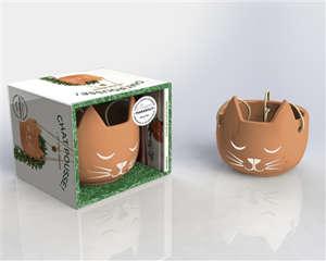 Chat pousse !... et chat décore : version terracotta