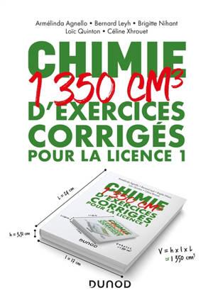 Chimie : 1.350 cm3 d'exercices corrigés pour la licence 1
