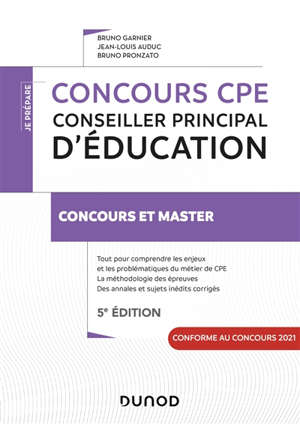 Concours CPE, conseiller principal d'éducation : concours et master