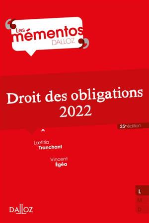 Droit des obligations : 2022