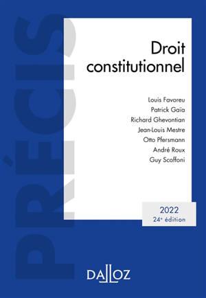 Droit constitutionnel 2022