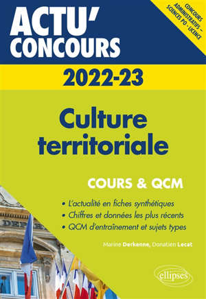 Culture territoriale 2022-2023 : concours administratifs, Sciences Po, licence : cours & QCM