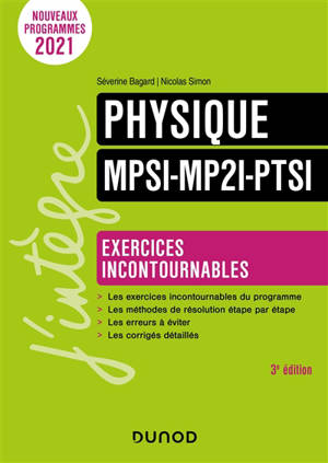Physique : exercices incontournables MPSI, MP2I, PTSI
