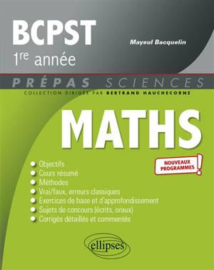 Maths, BCPST 1re année : nouveaux programmes