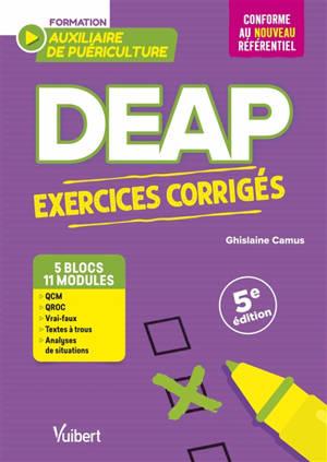 DEAP, formation auxiliaire de puériculture : exercices corrigés