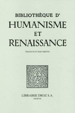 Bibliothèque d'humanisme et Renaissance. n° 83-2