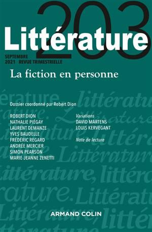 Littérature. n° 203, La fiction en personne