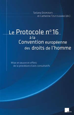 Le protocole n° 16 à la Convention européenne des droits de l'homme : mise en oeuvre et effets de la procédure d'avis consultatifs