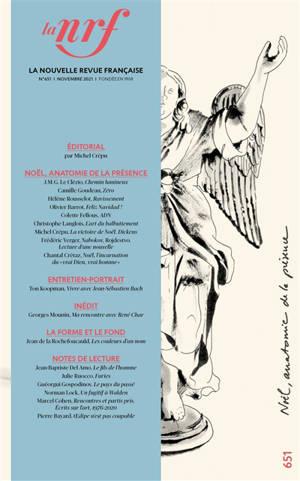 Nouvelle revue française. n° 651, Noël, anatomie de la présence