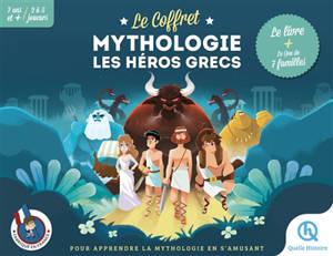 Le coffret mythologie : les héros grecs : le livre + le jeu de 7 familles