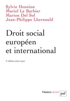 Droit social européen et international