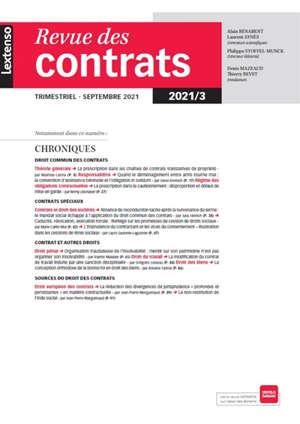 Revue des contrats. n° 3 (2021)