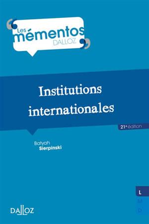 Institutions internationales