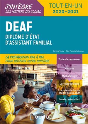 DEAF, diplôme d'Etat d'assistant familial : tout-en-un 2020-2021