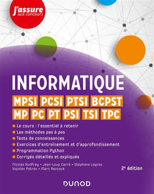 Informatique : MPSI, PCSI, PTSI, BCPST, MP, PC, PT, PSI, TSI, TPC