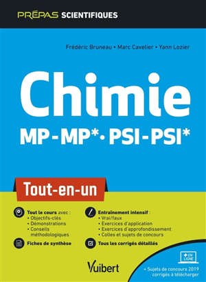 Chimie MP-MP*, PSI-PSI* : tout-en-un