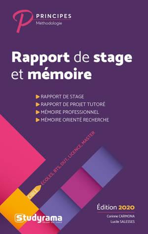 Rapport de stage et mémoire : écoles, BTS, DUT, licence, master