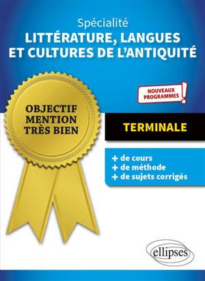 Spécialité littérature, langues et cultures de l'Antiquité terminale : nouveaux programmes