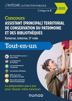 Concours assistant (principal) territorial de conservation du patrimoine et des bibliothèques : externe, interne, 3e voie : tout-en-un concours 2021