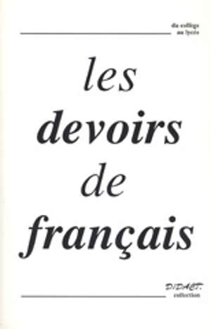 Les Devoirs de français