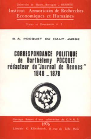Correspondance politique de Barthélemy Pocquet