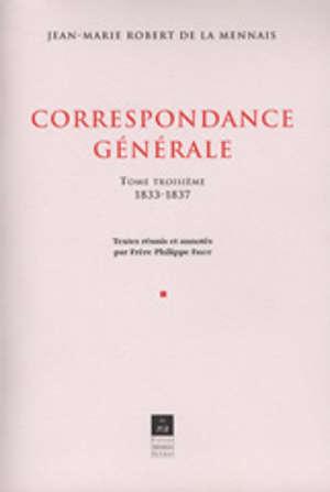 Correspondance générale, vol. III