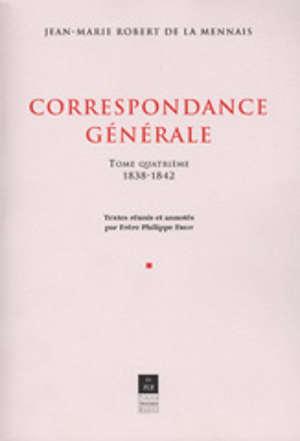 Correspondance générale, vol. IV