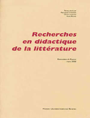 Recherches en didactique de la littérature
