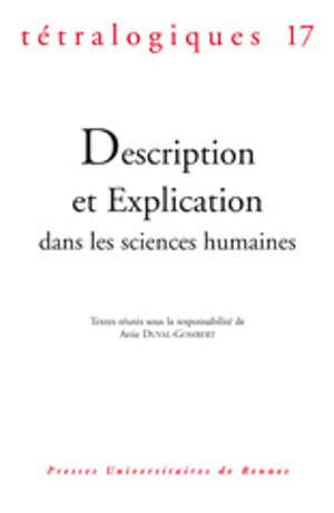 Description et explication dans les sciences humaines
