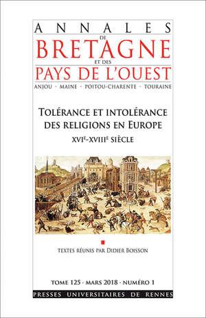 Abpo 125-1 TOLERANCE ET INTOLERANCE DES RELIGIONS EN EUROPE