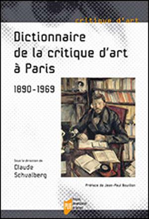 Dictionnaire de la critique d'art à Paris