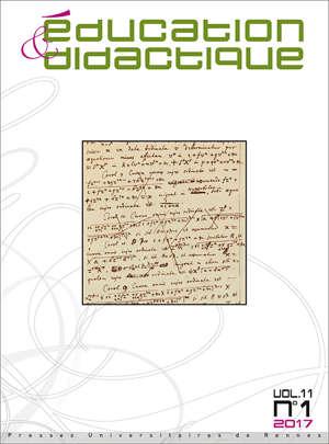 Education et didactique 11/1