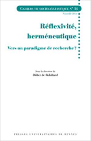 Réflexivité, herméneutique