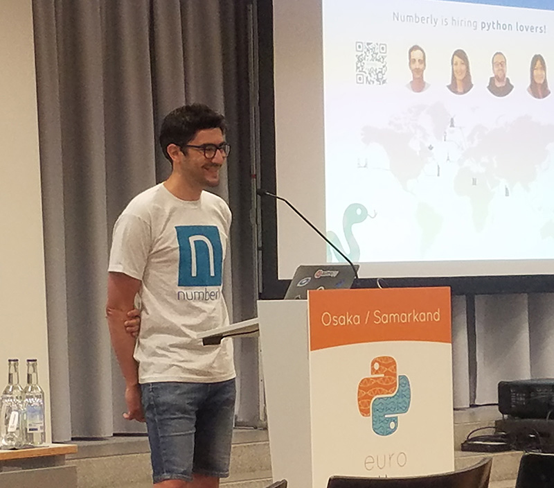 Alexys, our CTO, on stage
