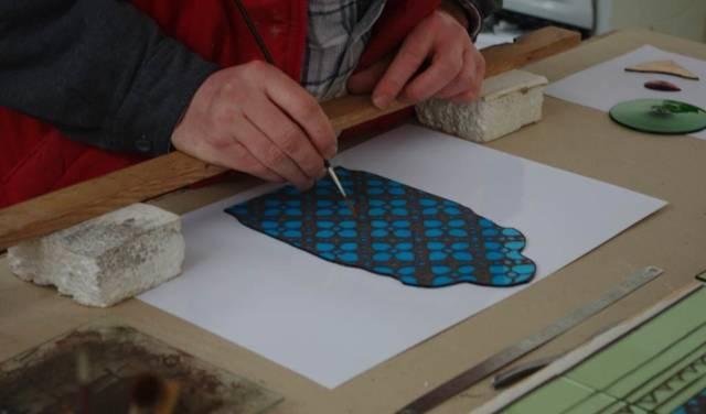 Atelier de l'artiste verrier, Jean-Marc Paguet