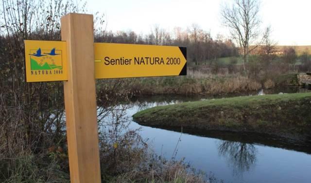 Fléchage Natura 2000 tout au long du sentier
