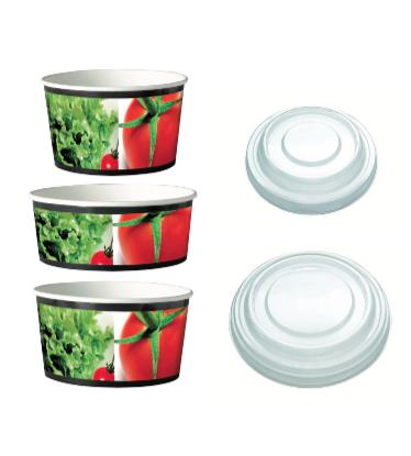 Embalagens papel para saladas