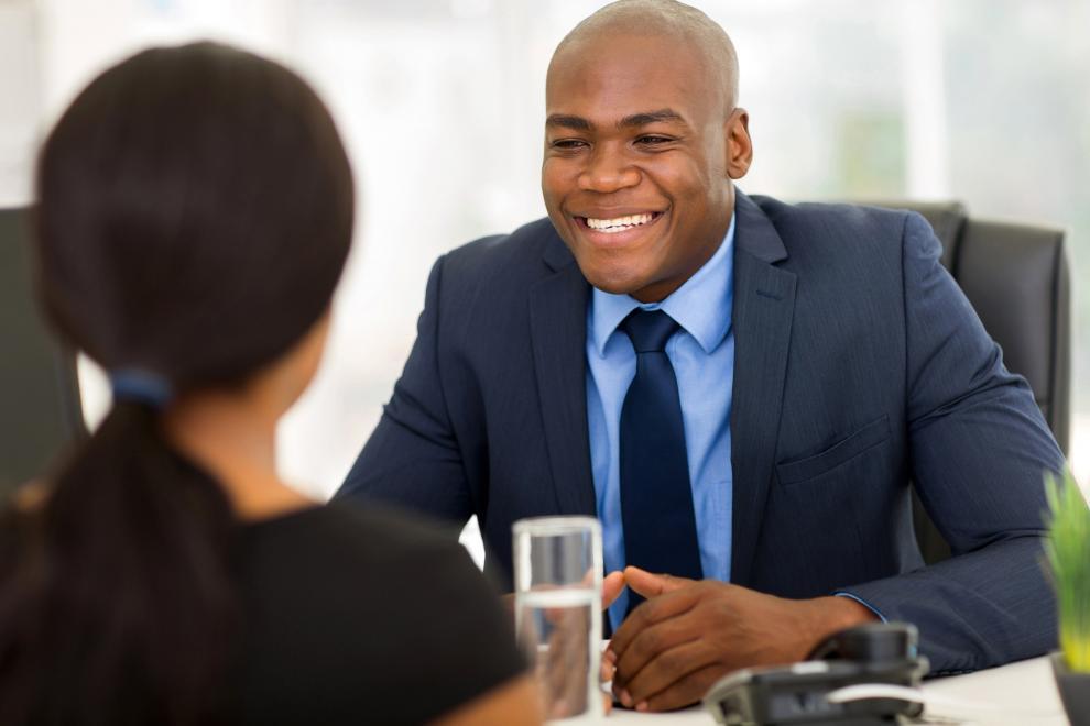 Employee smile