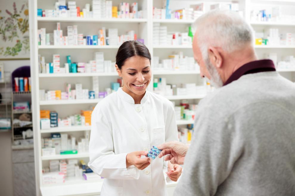 person with medicine