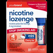 Nicotine Polacrilex Lozenge, 4 mg (Nicotine) Cherry Ice