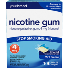 Nicotine Polacrilex Gum, 4 mg (Nicotine) Mint Freeze®
