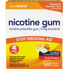 Nicotine Polacrilex Gum, 4 mg (Nicotine) Fruit Freeze