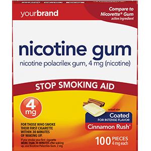 Nicotine Polacrilex Gum, 4 mg (Nicotine) Cinnamon Rush®