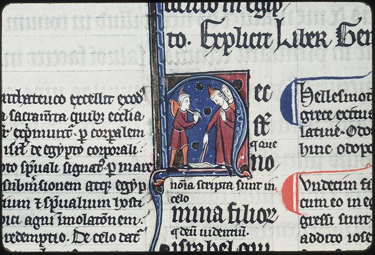 Bible glosée (partie de) - Passage de la mer Rouge_0