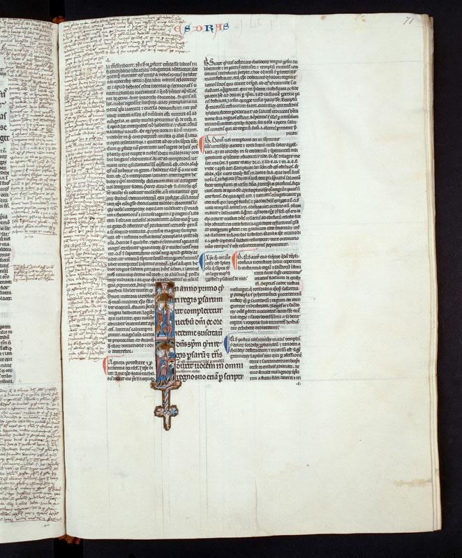 Bible glosée (partie de) - Cyrus et la reconstruction du Temple_0