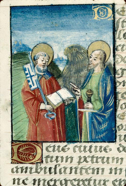 Heures à l'usage de Rome - Saint Pierre et saint Paul_0